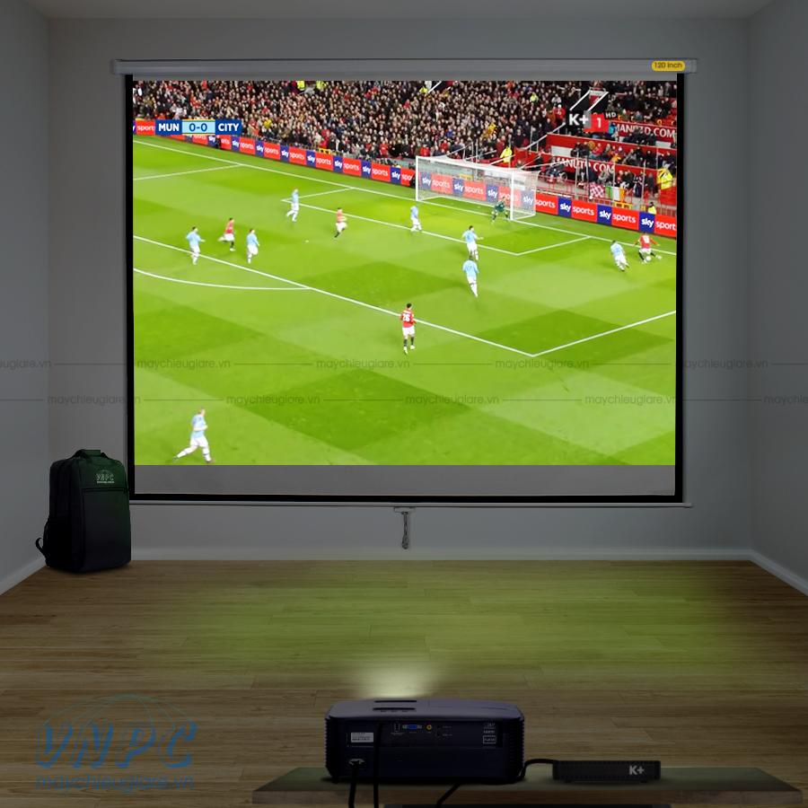 Optoma PS368 máy chiếu bóng đá cho quán cafe, nhà hàng