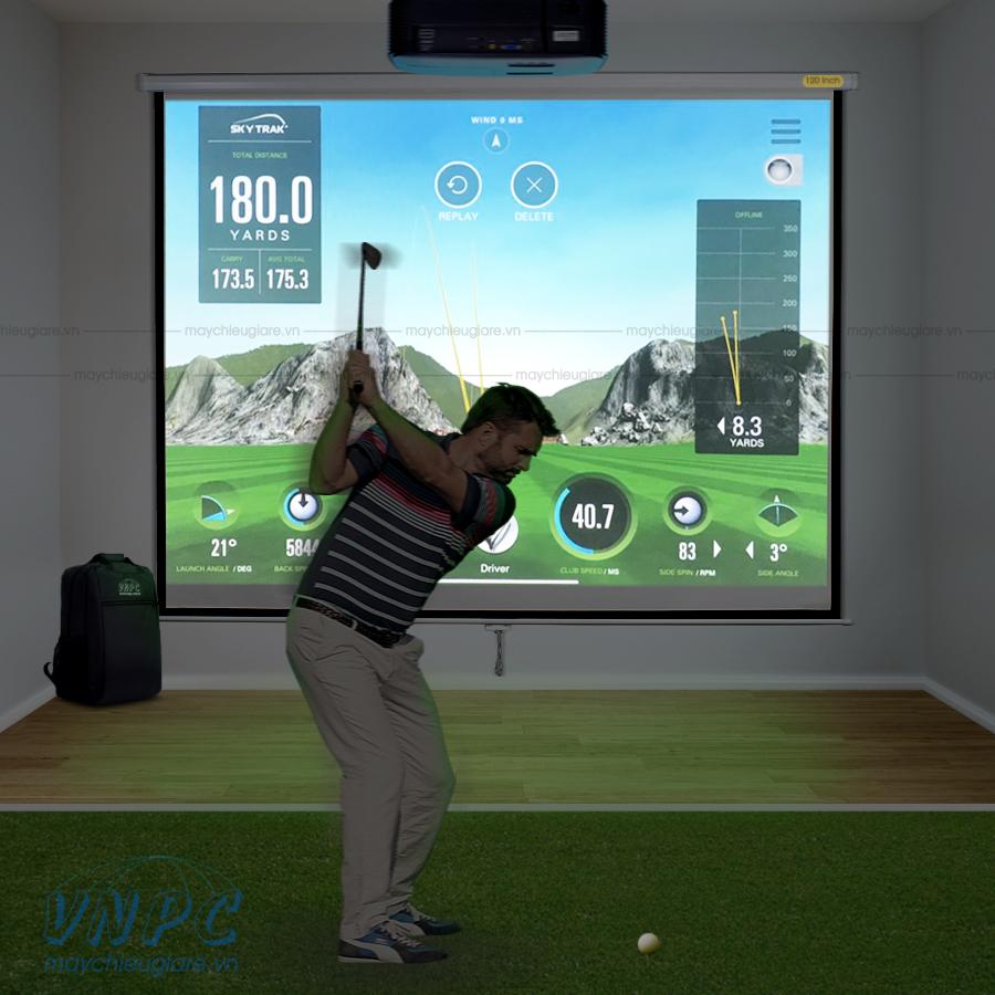 Optoma PS368 máy chiếu chơi Goft 3D tại nhà