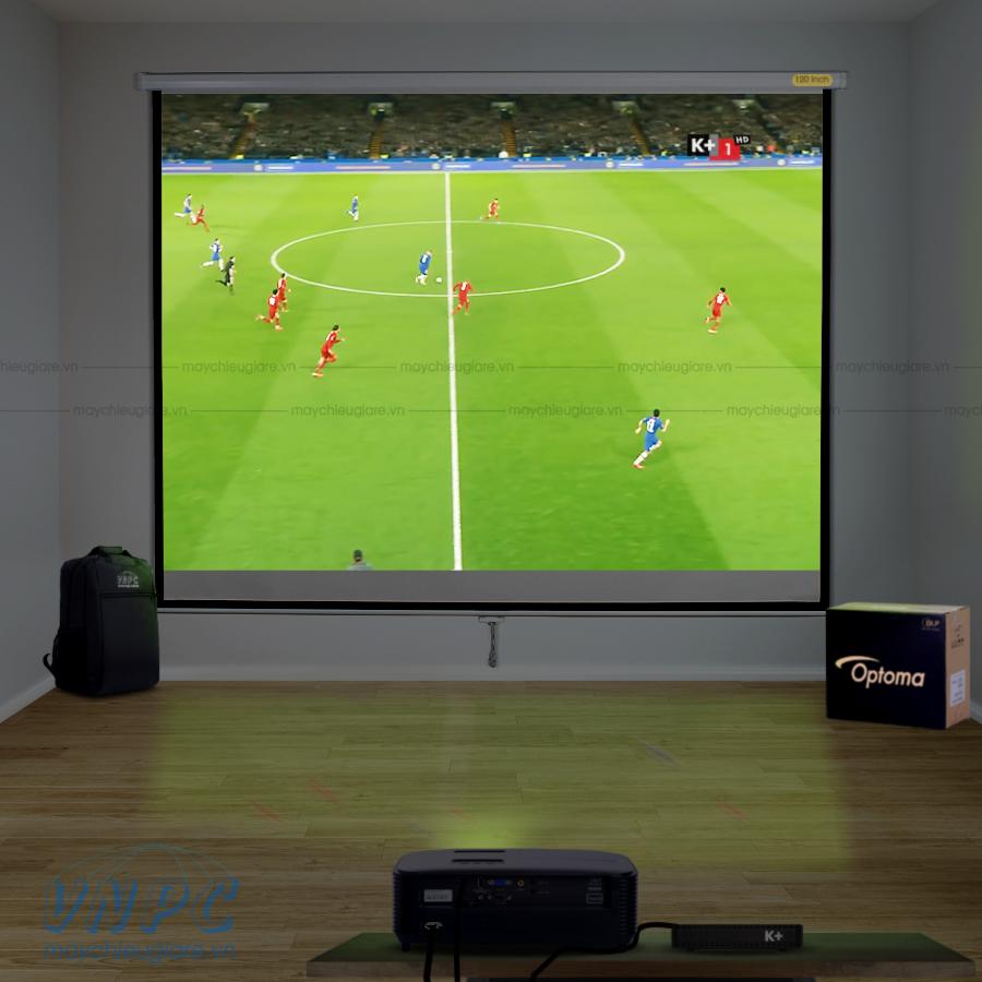 Optoma PX390 máy chiếu dùng chiếu bóng đá tại quán cafe, nhà hàng