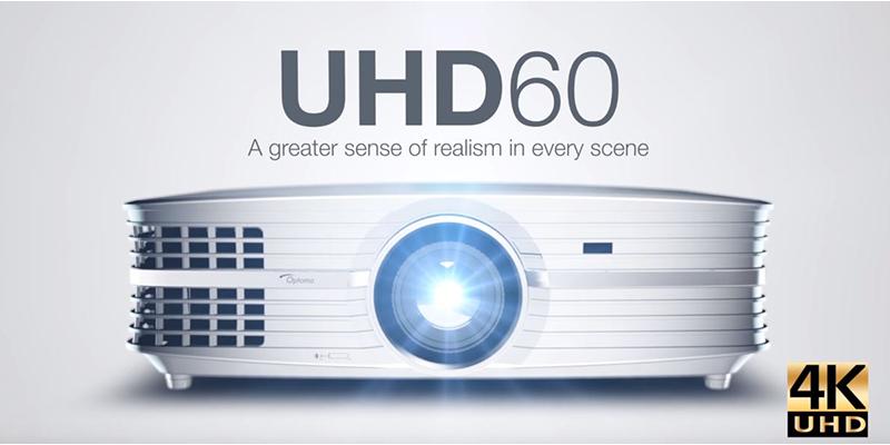 Máy chiếu 4K Optoma UHD60 xem phim 3D độ nét cao