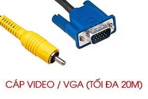 Cáp VGA và Video dành cho máy chiếu chính hãng giá rẻ