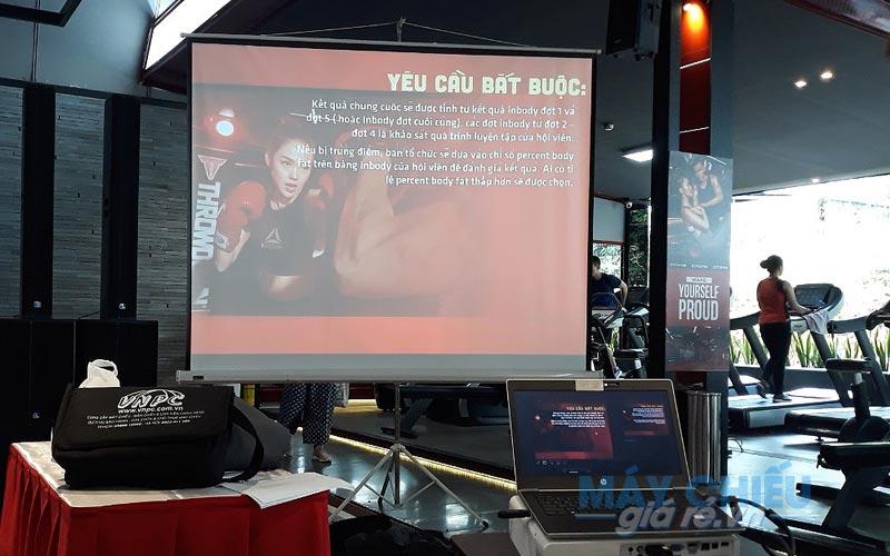 Cho thuê máy chiếu và màn chiếu tổ chức sự kiện tại CITIGYM TpHCM