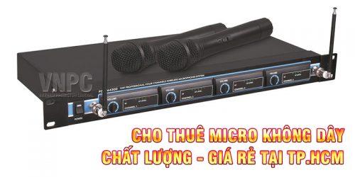 Cho Thuê Micro Không Dây Giá Rẻ Tại TpHCM, Hà Nội