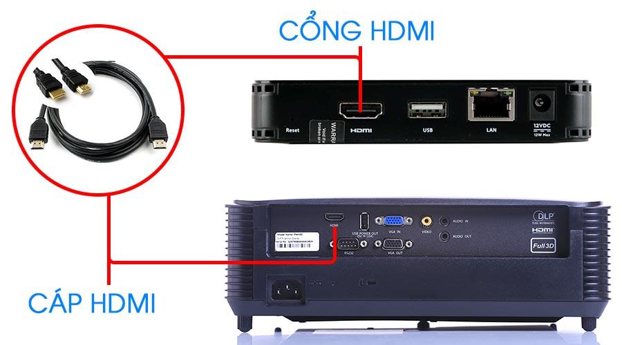 Hướng dẫn kết nối đầu K+ với máy chiếu thông qua cổng HDMI