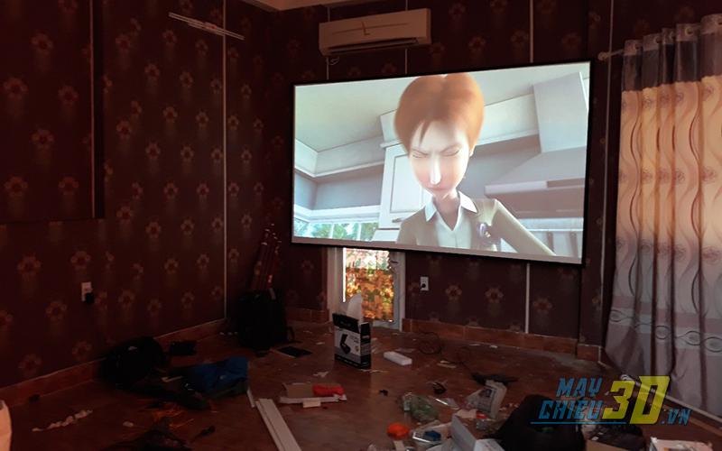 lắp máy chiếu cho phòng phim 3D Hiền Vương