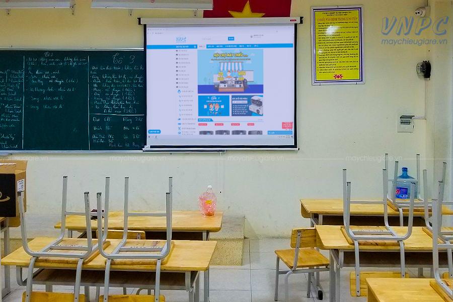 Lắp đặt Optoma PS368 sử dụng dạy học tại Trường THCS Ngũ Hiệp