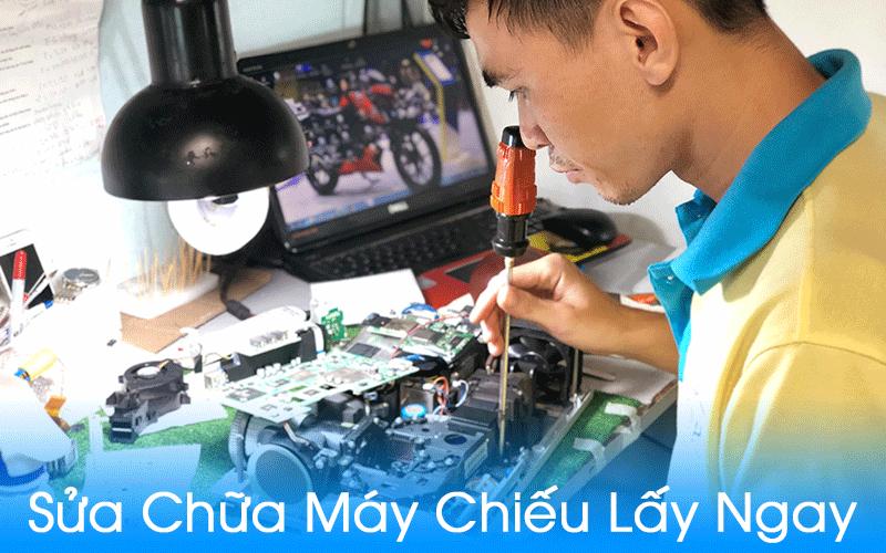 Dịch vụ sửa máy chiếu giá rẻ lấy ngay trong ngày tại TpHCM, Hà Nội