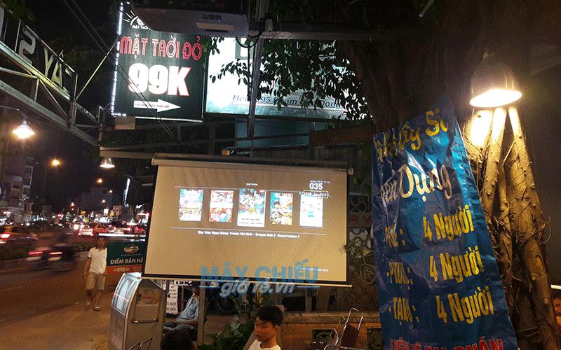 Lắp máy chiếu Epson EB-X41 xem bóng đá cho quán cafe Cây Si Phạm Văn Đồng