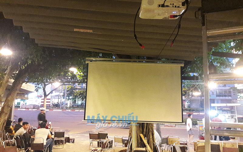 Lắp máy chiếu Epson EB-X41 cho quán cafe tại Q. Gò Vấp