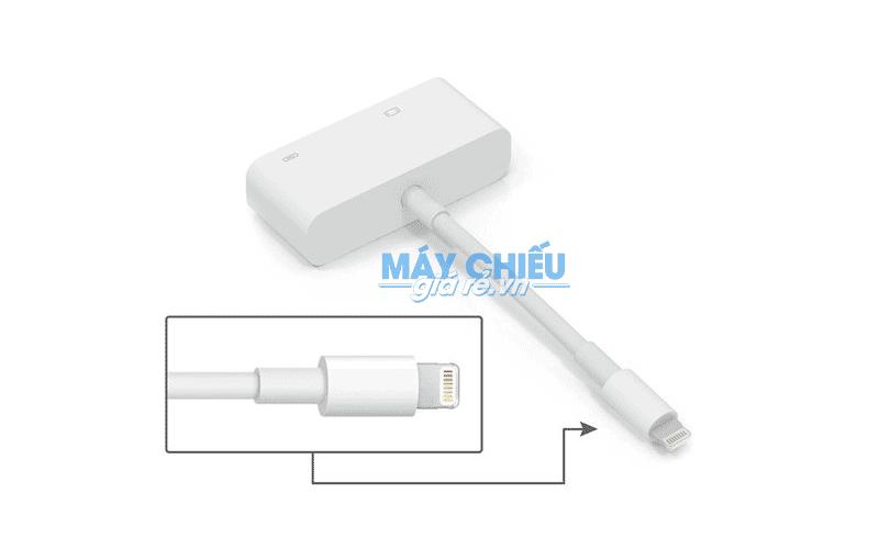 Cáp Lightning to VGA kết nối iphone, Ipad với máy chiếu