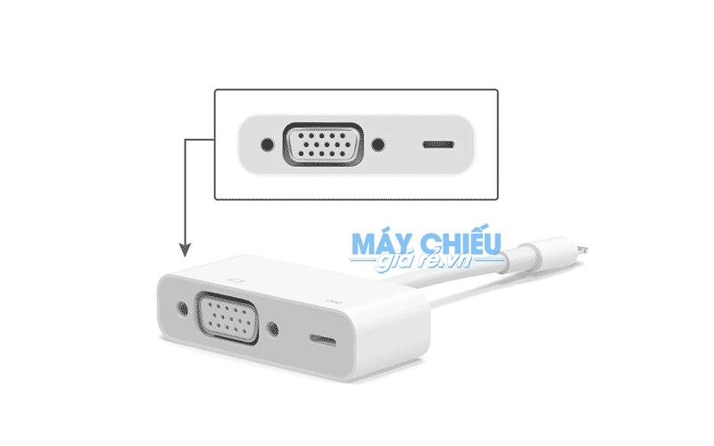 Cáp Lightning to VGA kết nối điện thoại iphone với máy chiếu