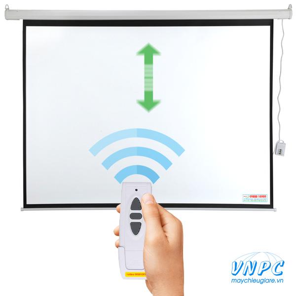 màn chiếu điện điều khiển từ xa bằng remote
