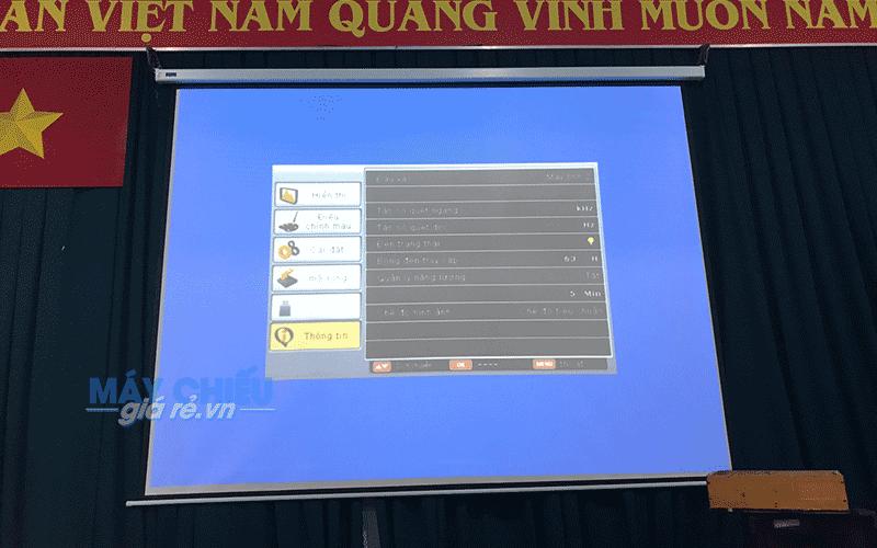 Lắp đặt máy chiếu cho hội trường tại Trường THPT Tân Bình Quận Tân Phú