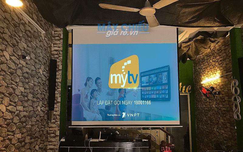 Lắp đặt máy chiếu Full HD cho quán cafe bóng đá K+ tại TpHCM