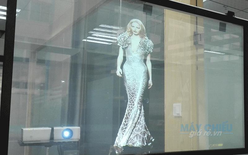 Màn chiếu trong suốt Hologram dán kính cao cấp giá rẻ nhất toàn quốc