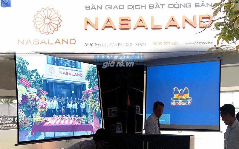 Lắp đặt máy chiếu cho văn phòng công ty NASALAND tại TpHCM