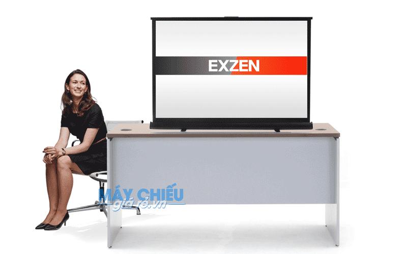 Màn chiếu để bàn 60 inch của EXZEN chuyên dùng đặt lên bàn chiếu
