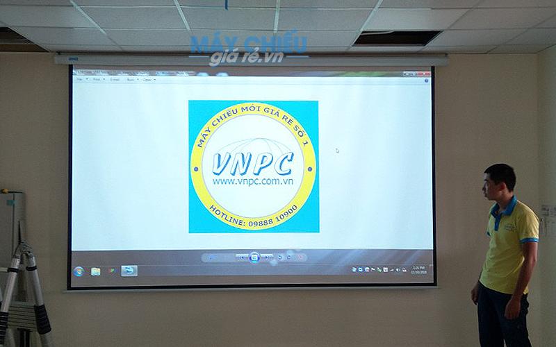 Lắp đặt Máy chiếu và Màn chiếu phục vụ hội họp tại An Mi Hưng Yên