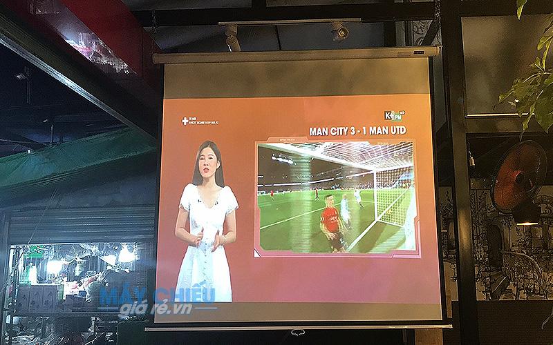 Lắp đặt máy chiếu bóng đá cho quán cafe H2 tại Gò Vấp TpHCM