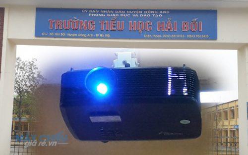 Lắp máy chiếu dạy học Optoma PX390 cho trường Hải Bối Hà Nội