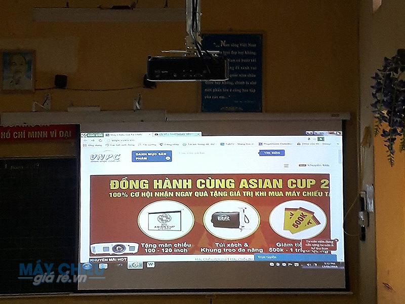 Lắp máy chiếu dạy học cho trường tiểu học Hải Bối Hà Nội