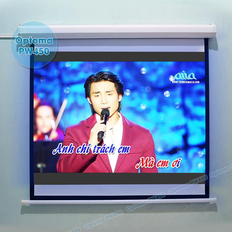Hát karaoke với độ nét cực cao Full HD trên máy chiếu Optoma PW450