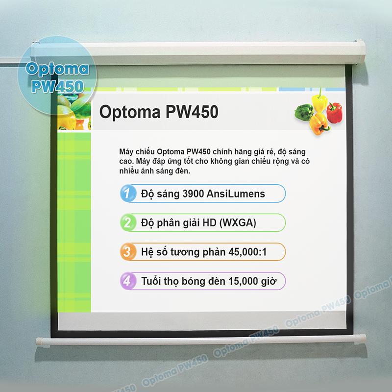 Chiếu PowerPoint phục vụ hội họp văn phòng, thuyết trình chuyên nghiệp bằng Optoma PW450