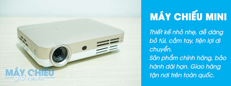 Bán máy chiếu mini giá rẻ với thiết kế nhỏ nhẹ, dễ dàng bỏ túi, cầm tay.
