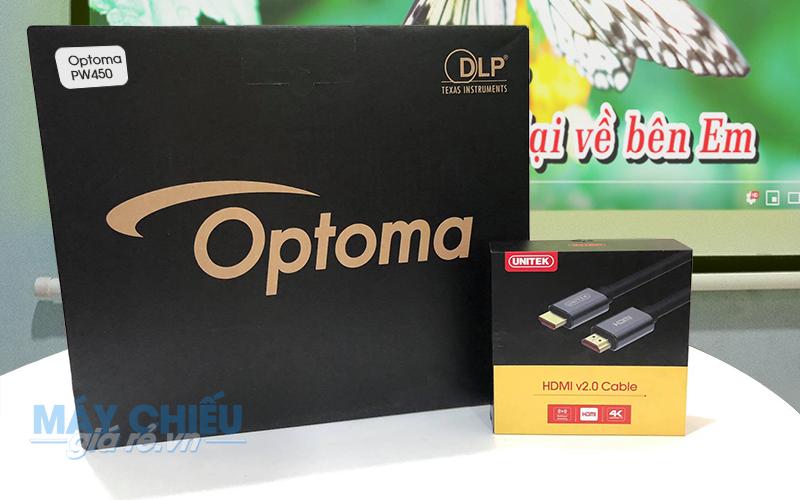 Optoma PW450 là model máy chiếu HD được ưa thích nhất hiện nay