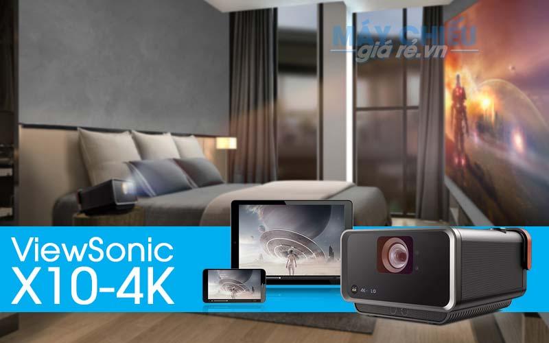 Máy chiếu ViewSonic X10-4K thông minh công nghệ LED