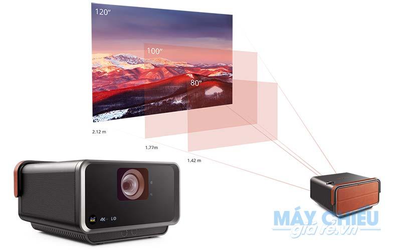 Máy chiếu ViewSonic X10-4K có ống kính zoom to