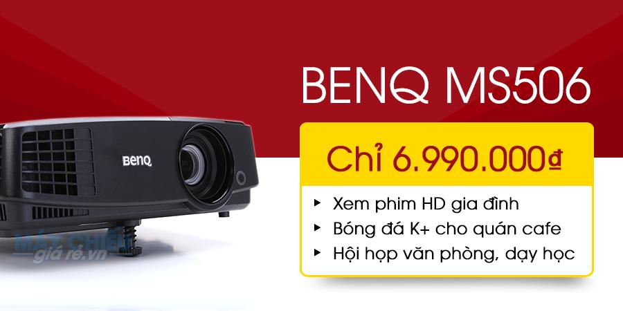 Trọn bộ máy chiếu giá rẻ BenQ MS506 chỉ từ 7 triệu đồng