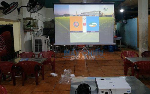 Bộ máy chiếu bóng đá VNPC cung cấp cho thuê tại quán ăn TpHCM