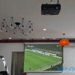 VNPC lắp đặt 2 bộ máy chiếu Optoma PW450 xem bóng đá cho quán cafe Origin