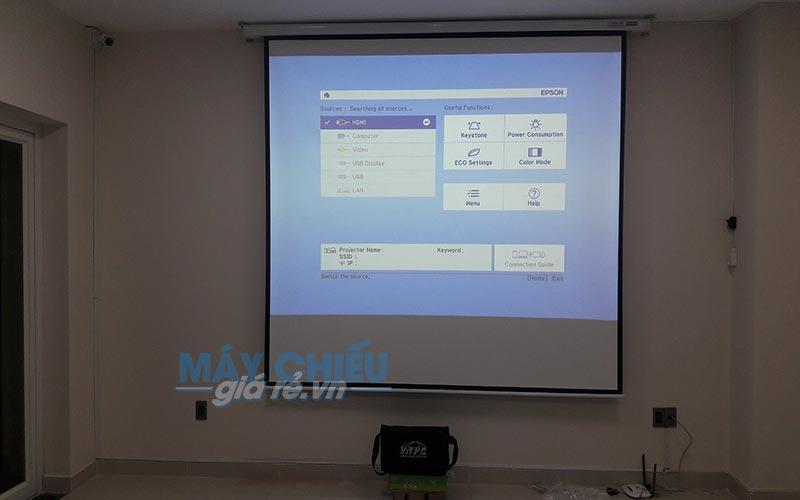 Màn chiếu điện 120 inch chính hãng Exzen do VNPC cung cấp