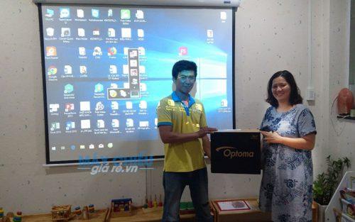 Máy chiếu Optoma PW450 rất được khách hàng là giáo viên ưa chuộng lắp đặt