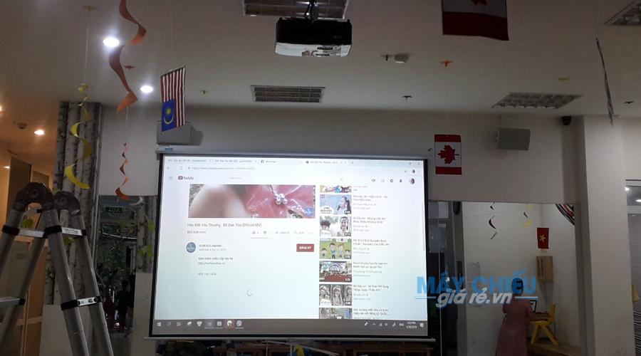 Bộ máy chiếu Optoma PW450 tại trường học Hà Nội do VNPC lắp đặt