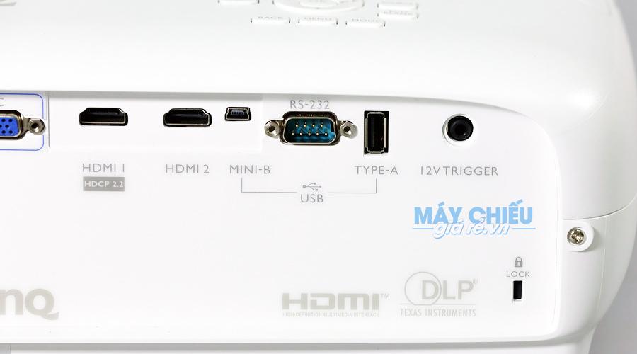 Máy chiếu 4K W3500 được trang bị nhiều cổng kết nối