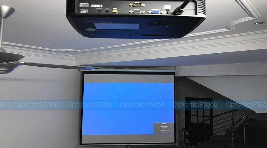 Lắp máy chiếu phim gia đình Optoma PS368