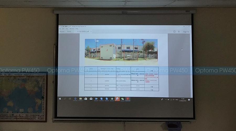 Lắp máy chiếu văn phòng HD Optoma PW450