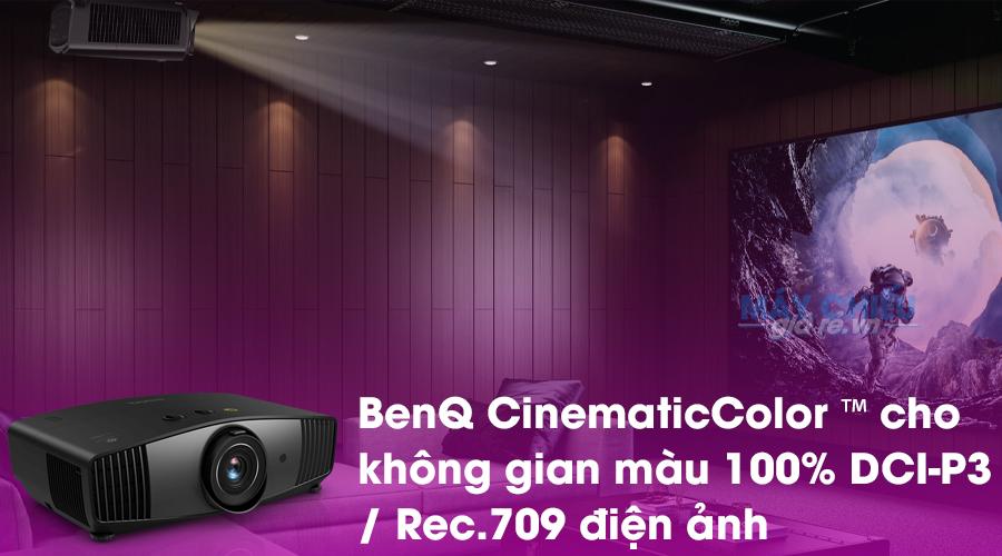 BenQ CinematicColor ™ cho không gian màu 100% DCI-P3 / Rec.709 của ngành điện ảnh