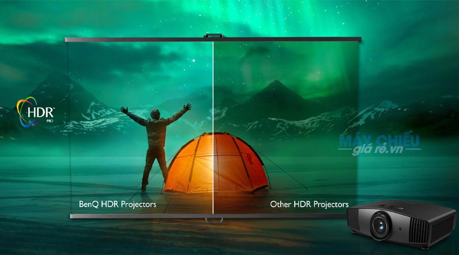 Công nghệ HDR W5700 được tối ưu hóa cho máy chiếu HDR-PRO ™