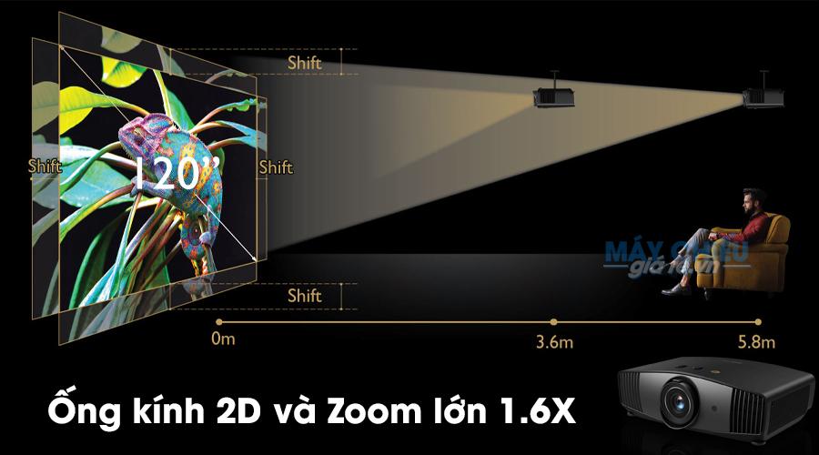 Ống kính 2D và Zoom lớn 1.6X trên BenQ W5700