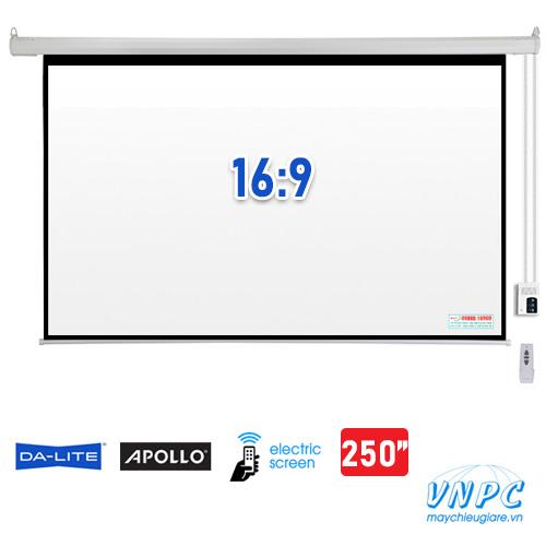 màn chiếu điện tỉ lệ 16:9 kích thước 250 inch