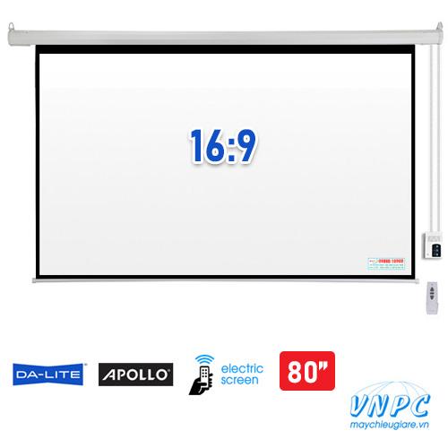 màn chiếu điện tỉ lệ 16:9 kích thước 80 inch