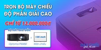 Bộ máy chiếu HD giá rẻ Optoma PW450 độ sáng cao 3900 AnsiLumens