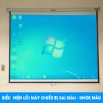 Biểu hiện máy chiếu bị sai màu do lỗi LCD