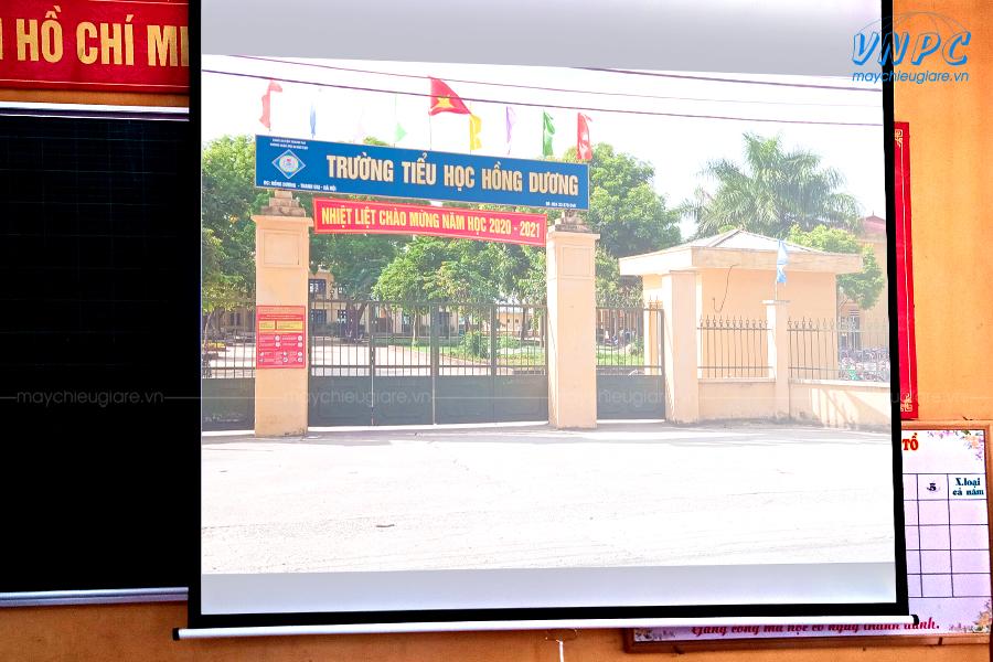 Lắp đặt Optoma PX390 dùng dạy học tại Trường tiểu học Hồng Dương