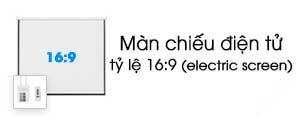 Màn chiếu điện tử 16:9