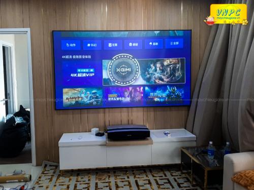 Lắp đặt màn chiếu Cinemax-ALR100 tương phản cao